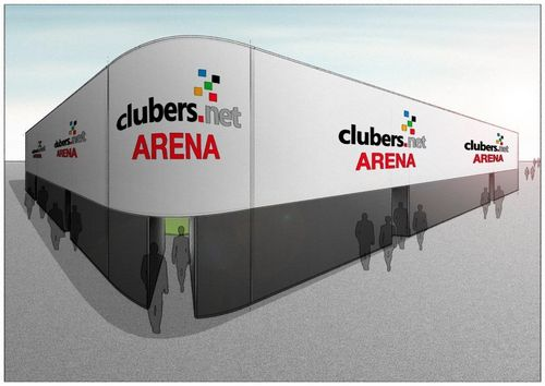 Clubers.net-arena auf dem Ulmer Münsterplatz