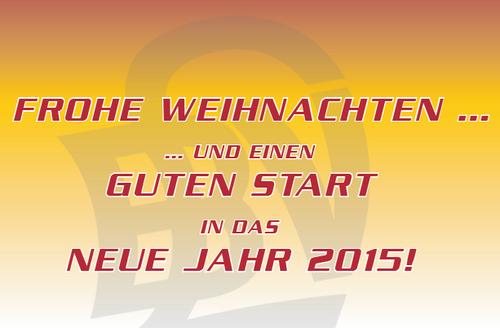 Frohe Weihnachten und einen guten Start in das Jahr 2015!