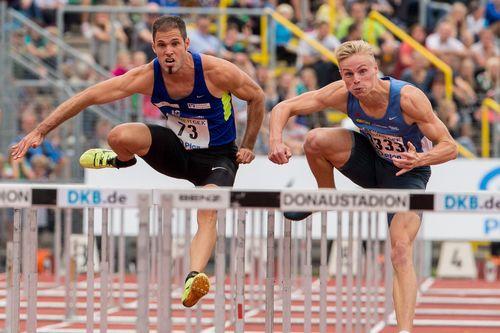Matthias Bühler fehlt nur eine Zehntel für das 110 Meter Hürden Finale