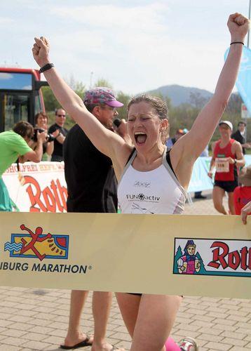 Christine Schleifer gewinnt zum dritten Mal den Halbmarathon