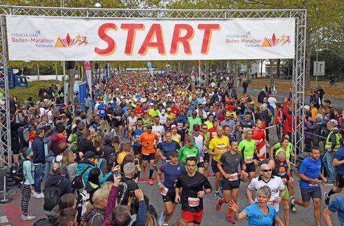 Jannik Arbogast  und Gabriela Rocha gewinnen den 37. Fiducia & GAD Baden-Marathon