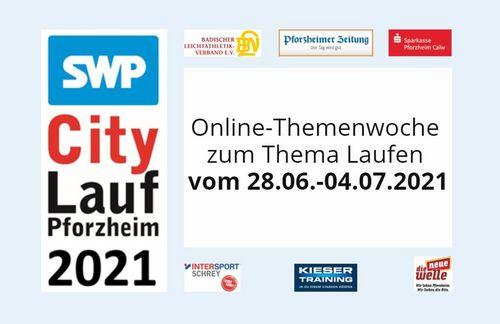 Fortbildungen im Rahmen der Online-Themenwoche beim SWP CityLauf Pforzheim 2021