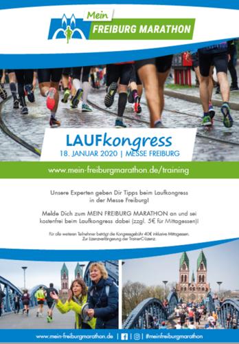 Jetzt anmelden zum 2. Laufkongress zum Mein Freiburg Marathon am 18. Januar 2020