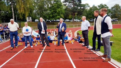 Einweihungsfeier der Laufbahn im Epfenbacher Sportzentrum am 13.09.2019